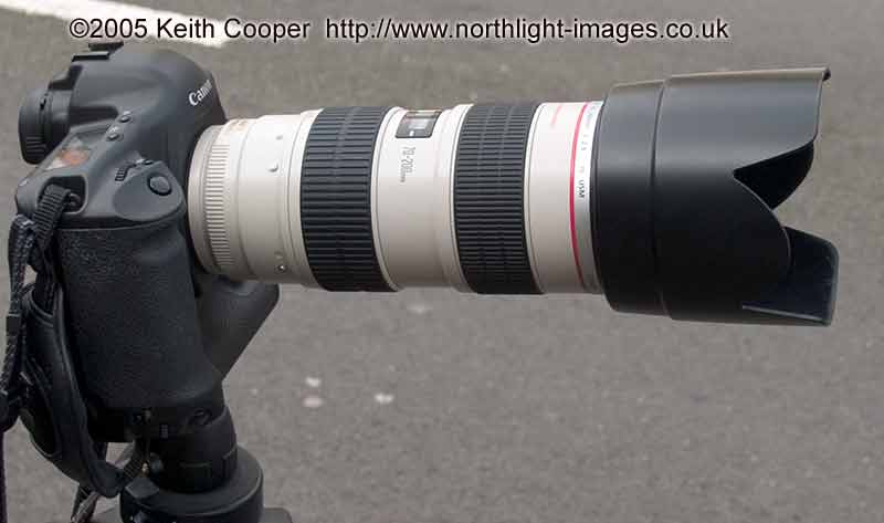 The 70-200 IS zoom from Canon costs about £1400 more than the other lens