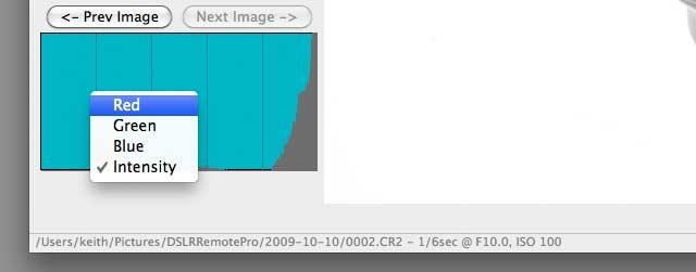 histogram settings