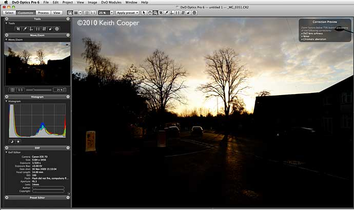 original 7D sunset image