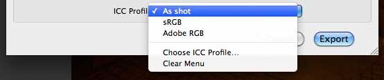 Select image output profile