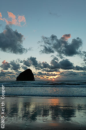 Sunset at Haystack Rock, Cape Kiwanda, Oregon