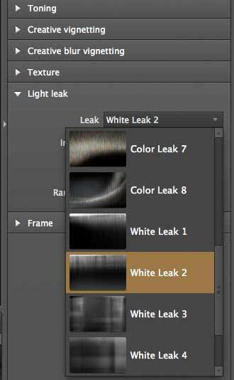 light leak simulation