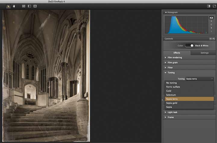 toning of images