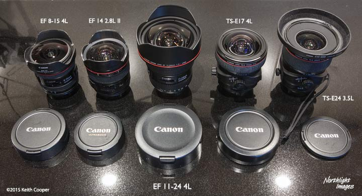 comparison of 11-24 with other Canon wide lenses