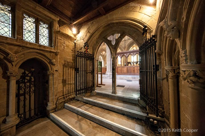 Looking into Southwell Minster