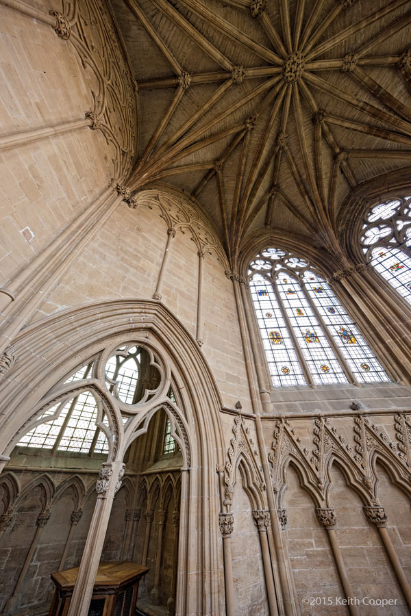 inside the chapter house at Southwell minster