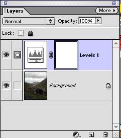 The layers palette