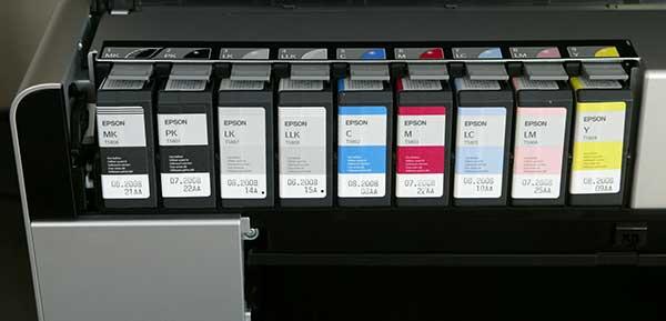 ink carts in printer