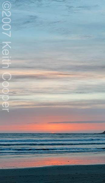 sunset colours at cape kiwanda