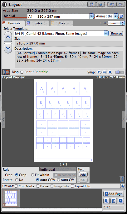 multiple print size options