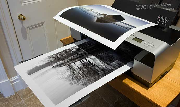 test prints on epson 3880 - B/W and colour