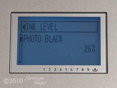 ink cartridge level in 3880
