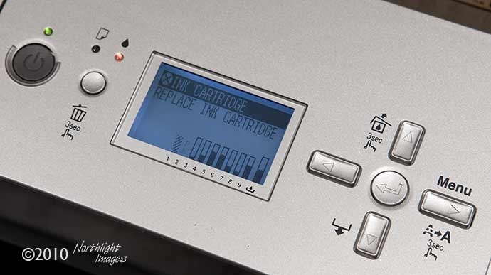 printer needing new ink cartridge