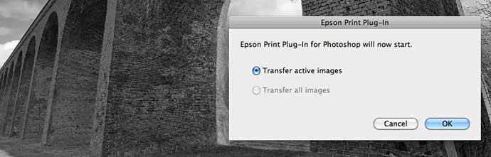 epson print plugin - image transfer