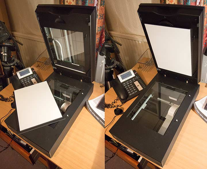 Epson Perfection V850 film scanner review, Flatbed and