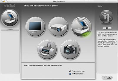 select scanner profiling
