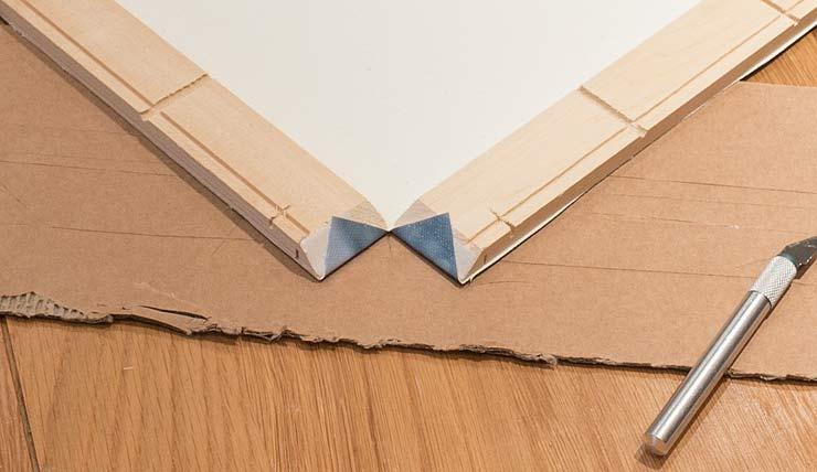 folded corner tabs
