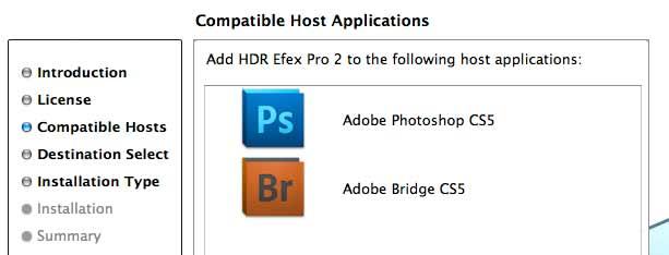installing Nik HDR Efex 2