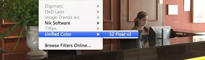 launching float 32 inside Photoshop