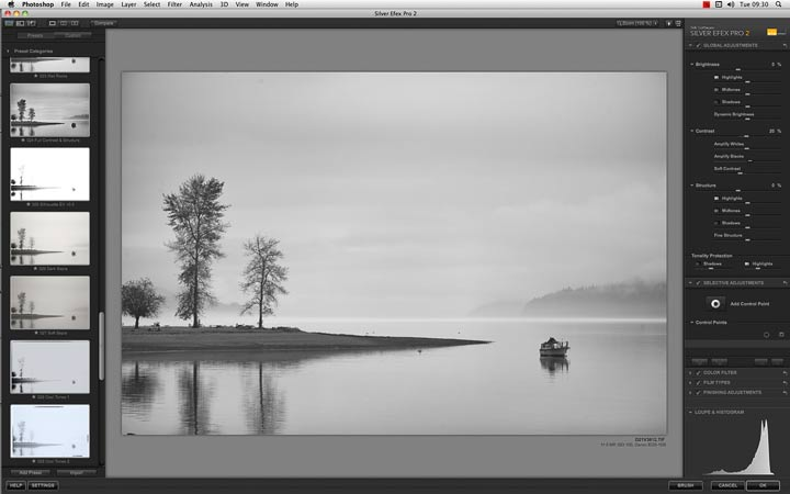 using silver efex pro 2 to produce a b&w image