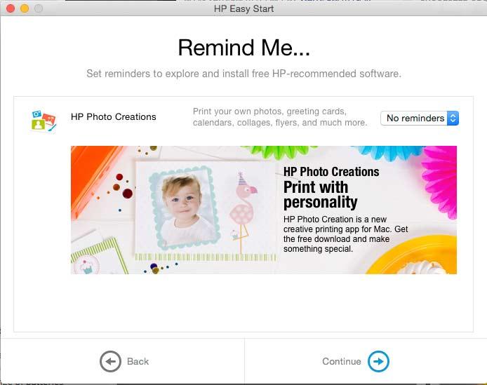 optional printer software