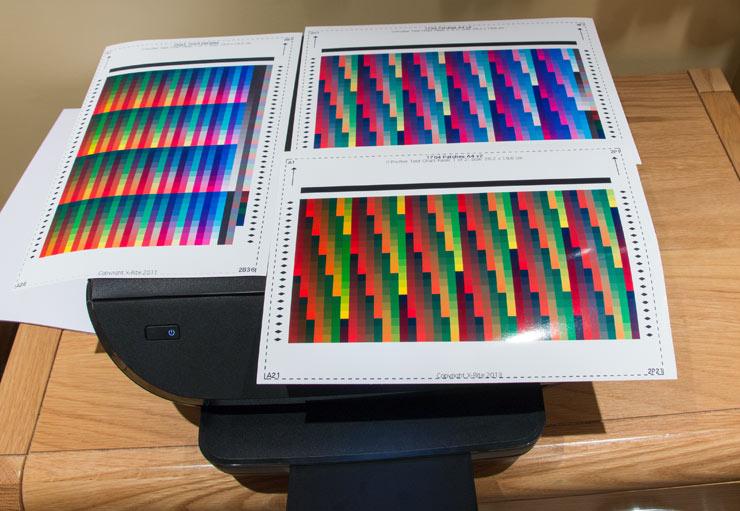 printer profiling test prints