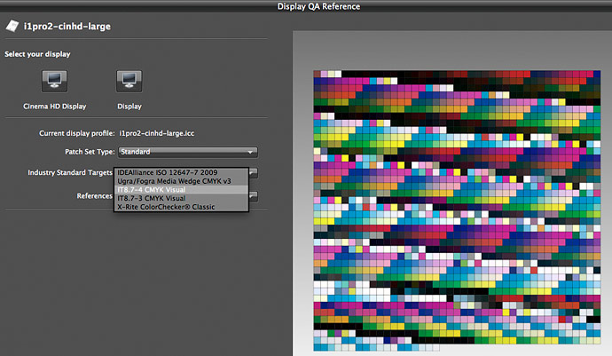 very large cmyk it8.7-4 target for display QA