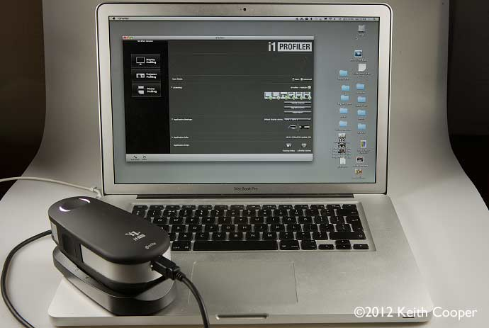 i1pro 2 plugged into MacBook Pro
