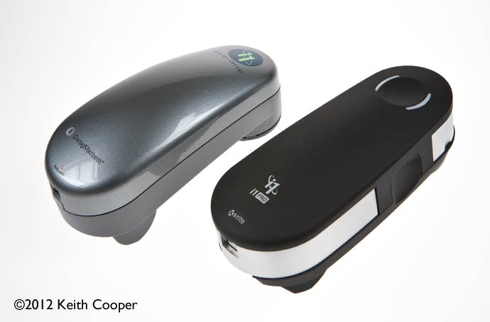 the new and old versions of the i1Pro spectrophotometer