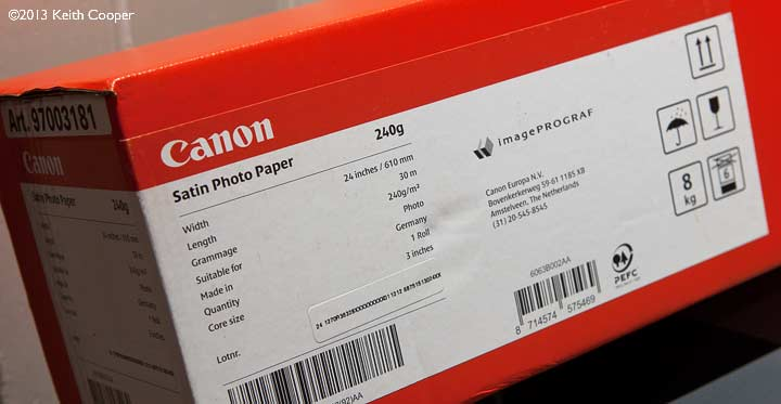 Canon 240g satin paper 24 inch roll