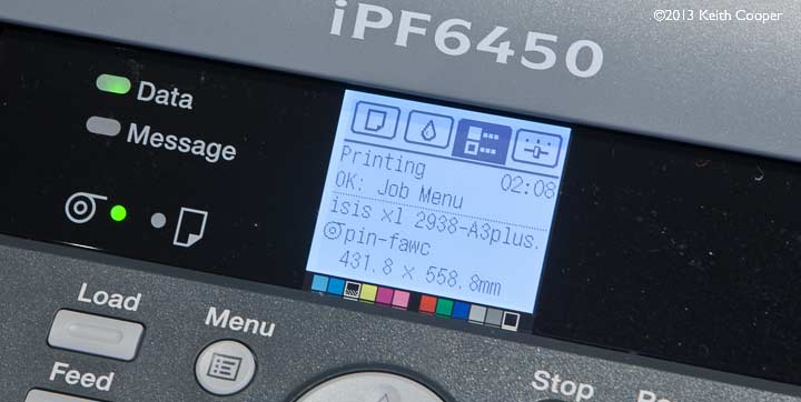 printing a profiling target