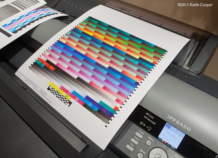 printed profiling target