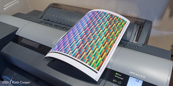 profiling target on matte paper
