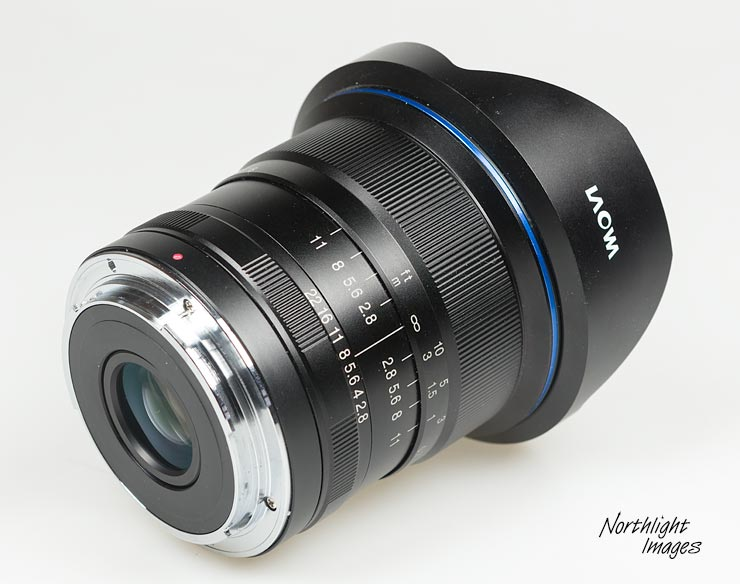 side rear viw of the 11-24mm lens