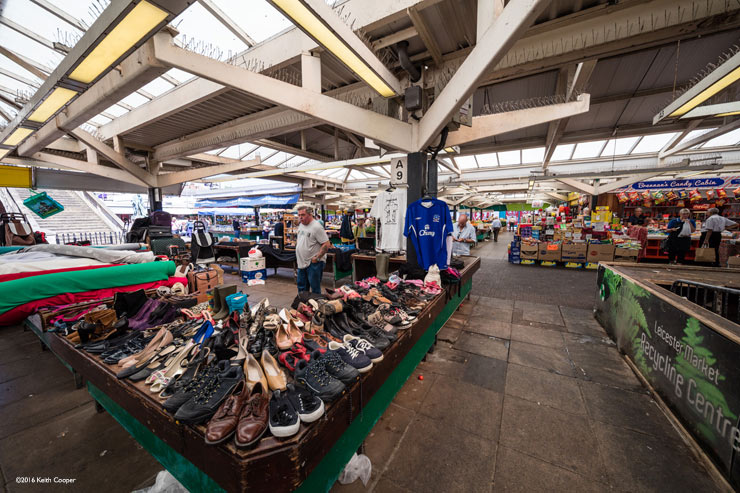Leicester market stall - shoes