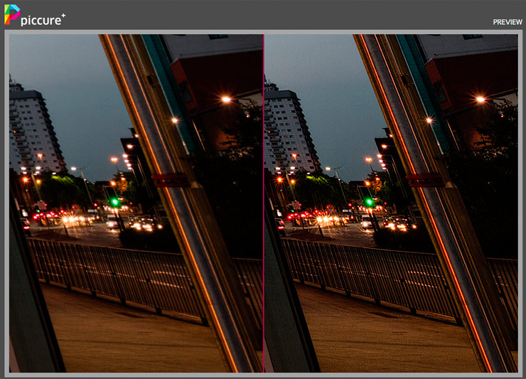 image sharpening with Piccure