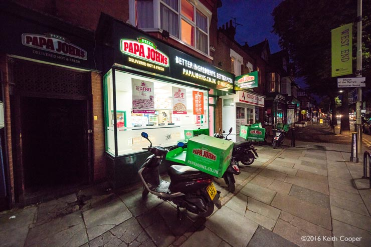 Pizza shop, Narborough Road, Leicester