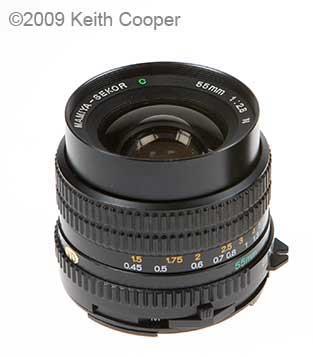 mamiya sekor c 55mm f2.8 lens