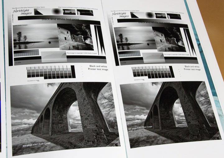 comparison of different black and white prints
