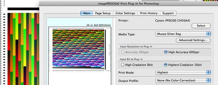 printing profiling target