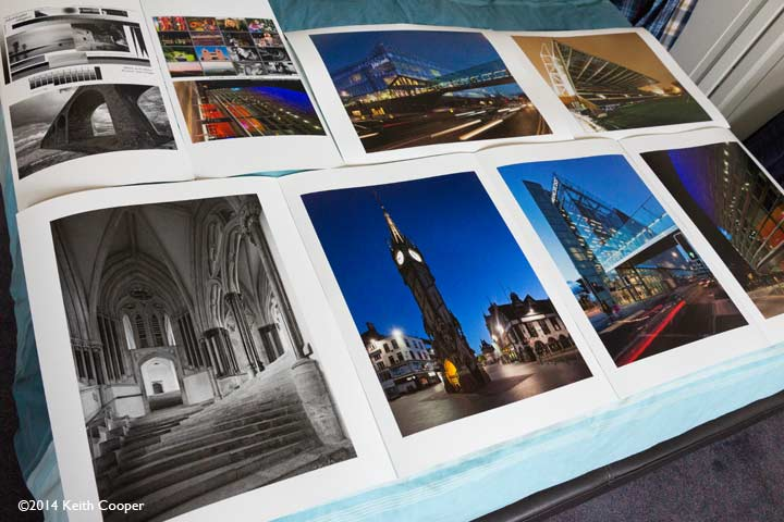 assorted test prints on Museo Silver Rag paper