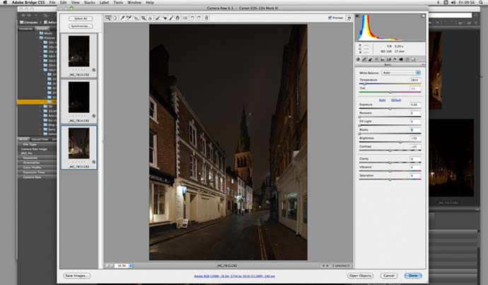 setting colour temperture for RAW conversion