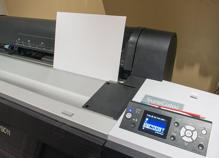 loading sheet paper