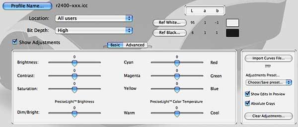 basic profile generation settings