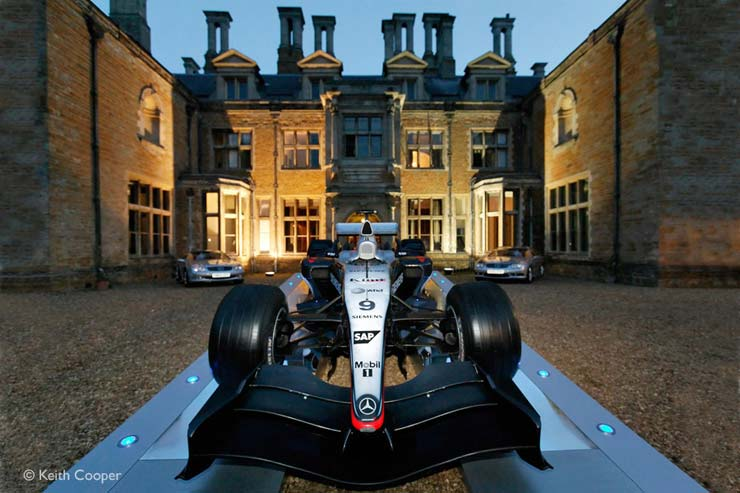 Holdenby house and F1 car