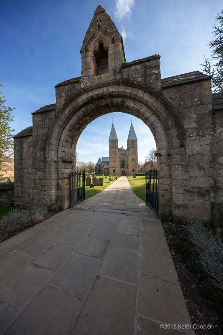 Entrance to Southwell Minster