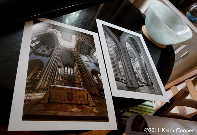 Two sample prints using pinnacle warm tone baryta paper