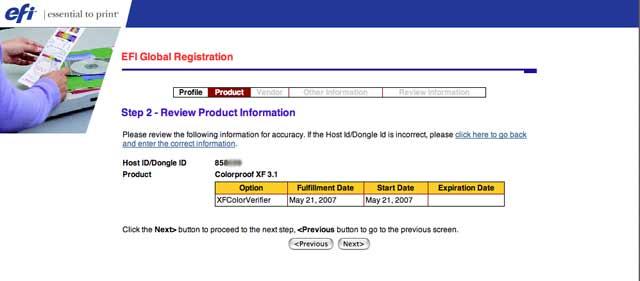 EFI color verifier license