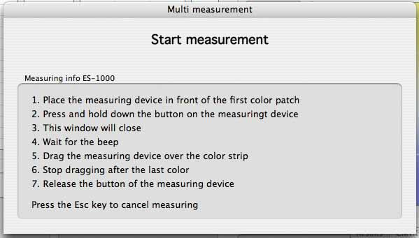 color verifier measurement