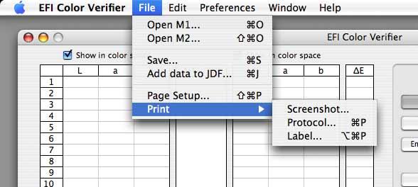 efi color verifier printing